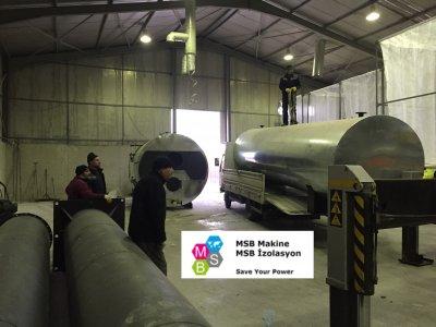 EPS/Strafor/Köpük Yüksek Basınçlı Buhar Kazanı ve Akümülasyon Tankı (Buhar Depolama)